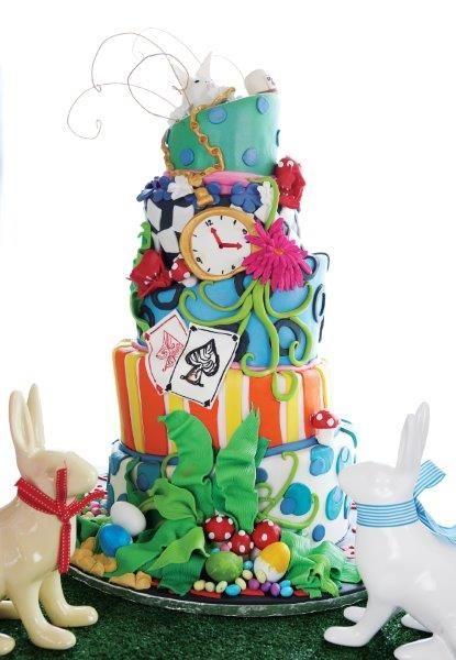A Mad Hatter themed Easter celebration cake - Belle's Patisserie