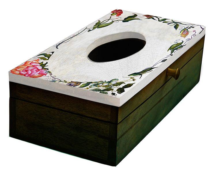 Bulk Wooden Tissue Box Holder Cover Handmade In Rectangular Shape