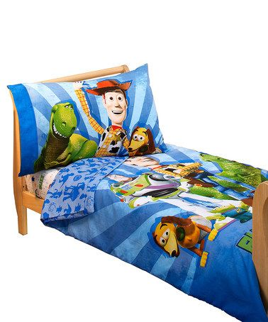 look at this toy story woody buzz the gang toddler bedding set by pixar