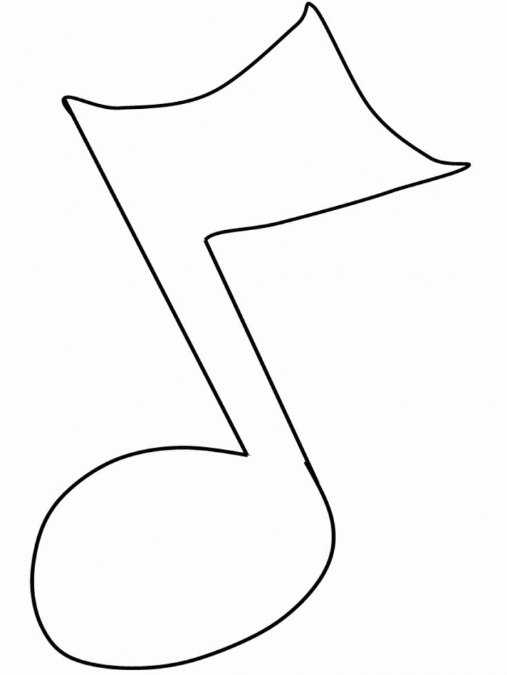 Printable Note 5th Music Coloring Pages Pictures