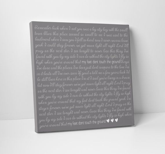 Lyric Art First Dance Poem Wedding Vow Art by TheStandardCanvas, $65.00