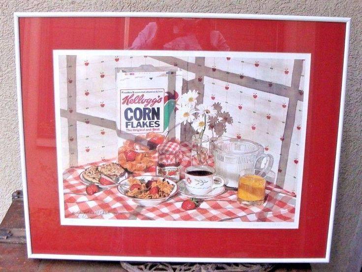 Jacqueline Gnott Breakfast In America Lithograph 1991 Corn Flakes Retro  #Realism
