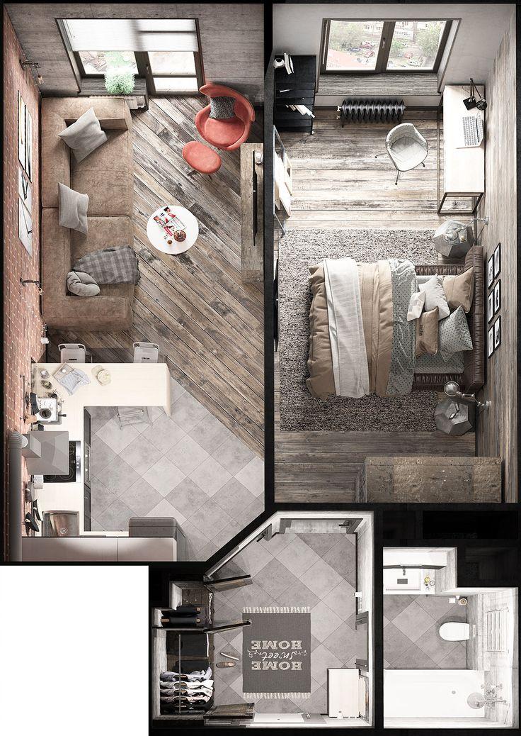 Les 8 meilleures images à propos de maquetes sur Pinterest Studios - les meilleurs plans de maison