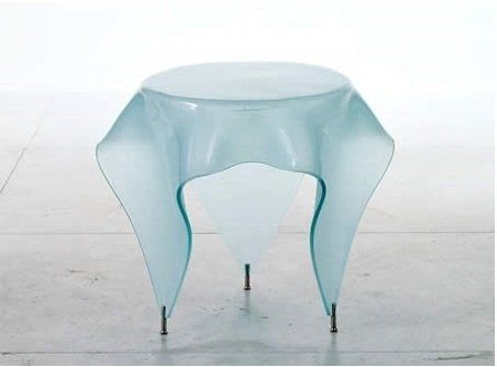 Стеклянный стол-скатерть от дизайнера Джона Брауэра (John Brauer).