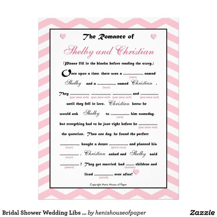 Bridal Shower Wedding Libs Game