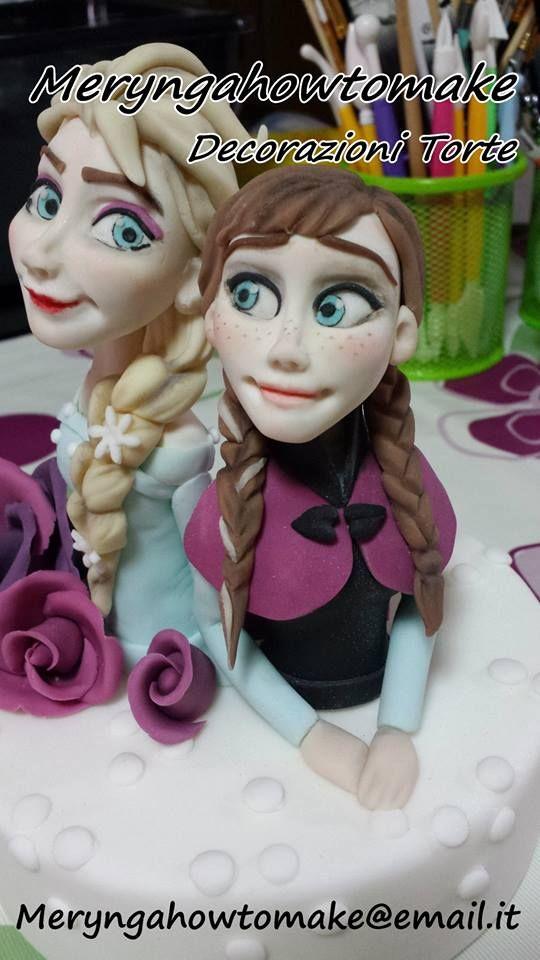 Frozen ,Elsa-Anna ,DecorazioniTorte