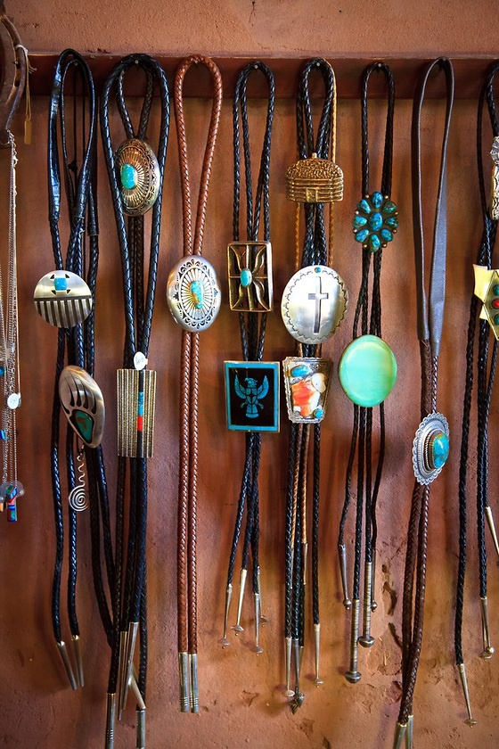 Bolo ties at the Hubbell Trading Post on the Navajo Reservation in eastern  Arizona. 9b5e5b38772fc