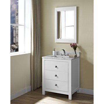 Image Of Fairmont Designs Uptown Vanity Glossy White