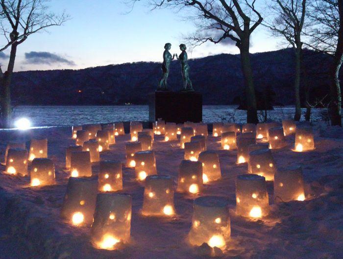 十和田湖の夜写真1