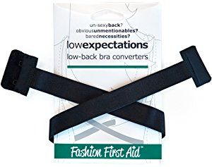 Fashion First Aid Women's Plus-Size Low Expectations Low Back Bra Converters