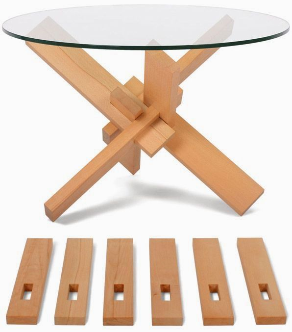 Easy Diy Coffee Table Coffeetables Bricolage Table Basse Assemblages Bois Bois Concept