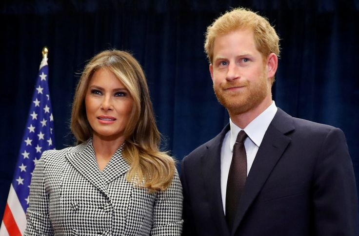 VIDEO. Prince Harry meeting Melania and making devil hand sign