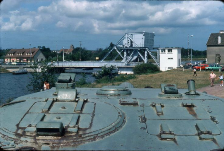 The Pegasus Bridge over the Caen Canal. It has since been replaced.