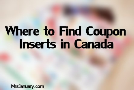 Coupon Inserts Canada Where to Find