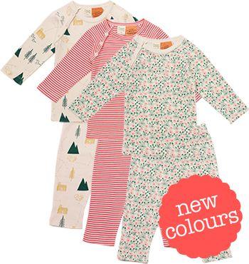 Organic Long Sleeve Raglan 2 piece Pyjamas