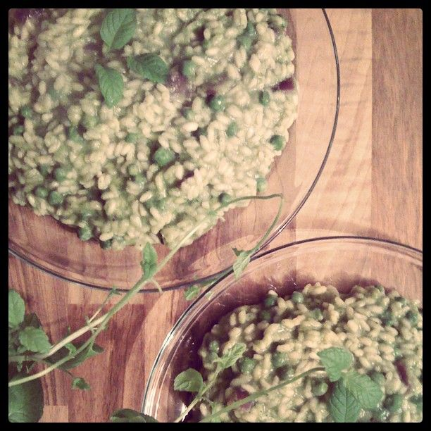 Peas and Mint Risotto