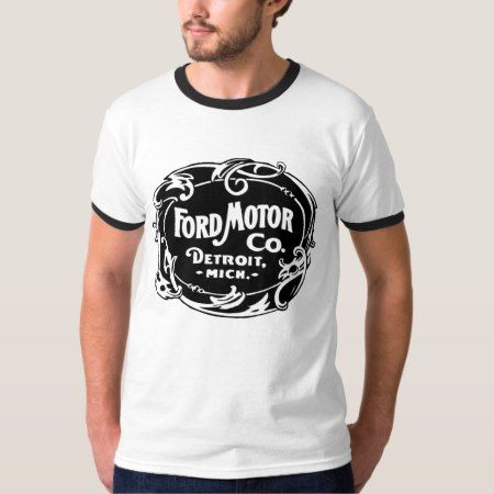 Vintage Ford Motor Company Detroit Retro Cool Logo T-Shirt - click/tap to personalize and buy