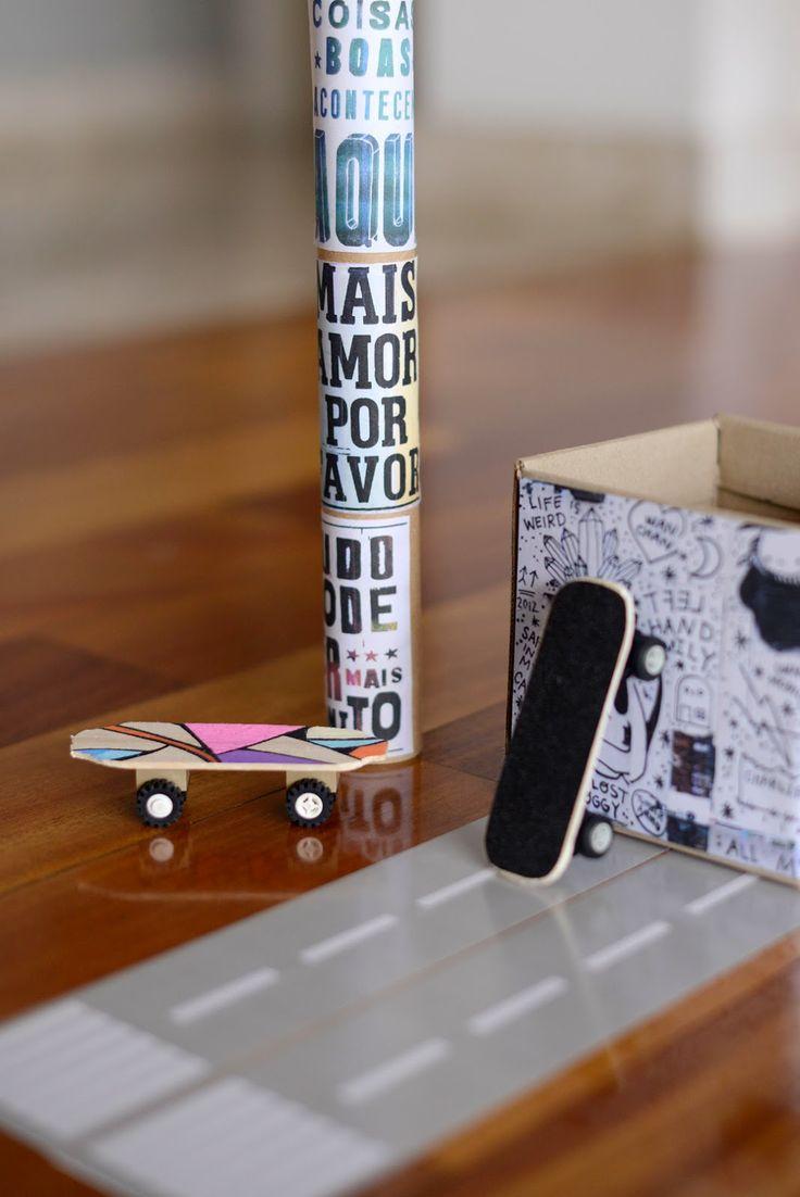 Estéfi Machado: Skate de dedo feito em casa! * DIY finger skateboard