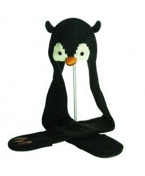 Wełniana czapka z szalikiem Peppy the Penguin od Knit Wits.