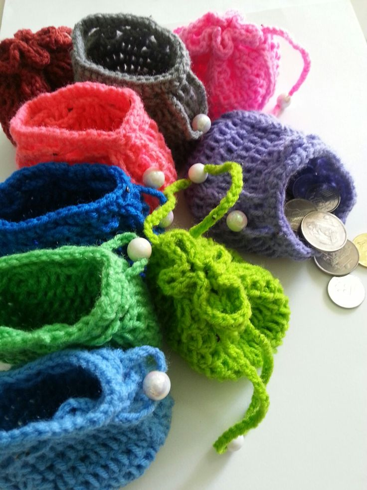 Crochet coin bag