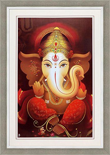Avercart Lord Ganesha  Shree Ganesh  Shri Ganpati Poster 12x18 inch with Photo Frame 30x45 cm framed ** Check out the image by visiting the link.Note:It is affiliate link to Amazon.