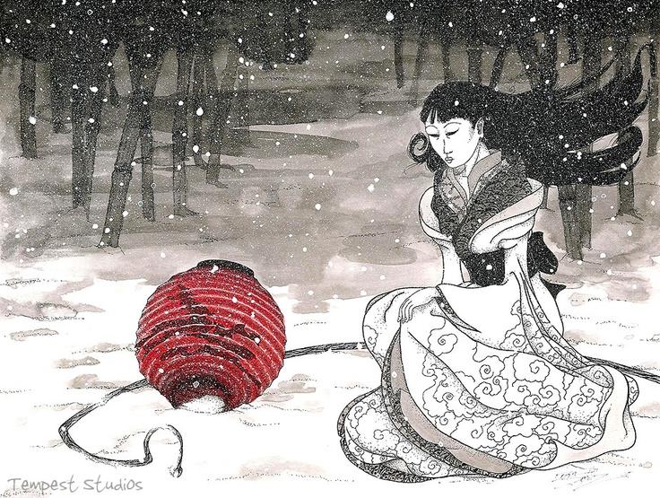 Výsledek obrázku pro yuki onna traditional art