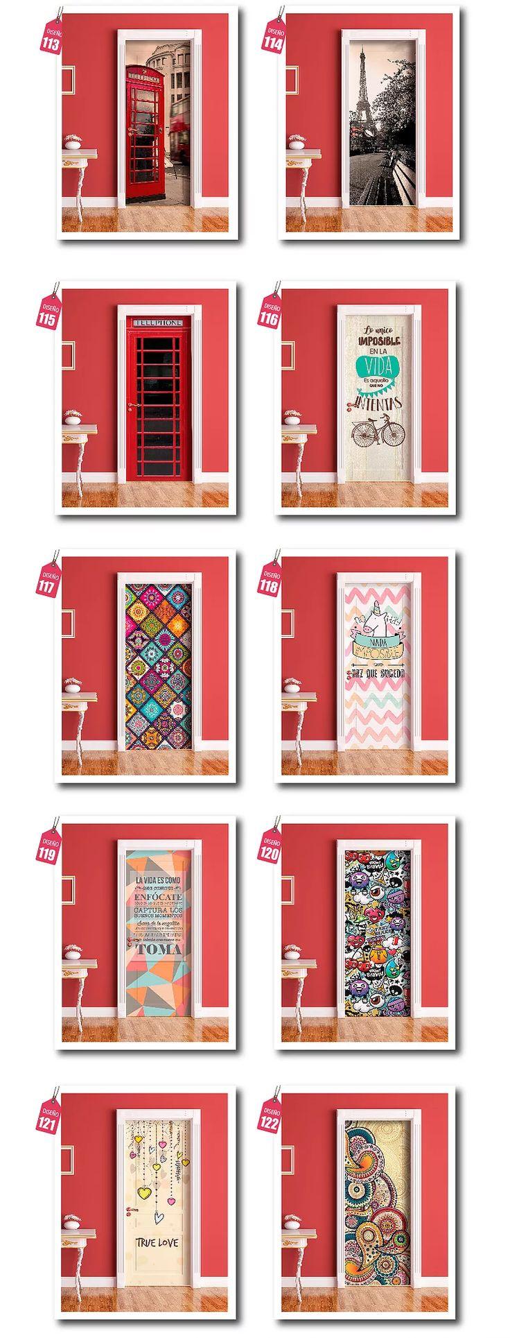 M s de 25 ideas incre bles sobre vinilos para puertas en for Vinilos pared personalizados
