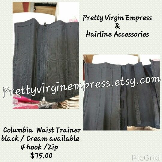 Columbian waist trainer 4 hook with zipper. Come in black and cream . Please Send a pic of your self and size n measurement to help you find the right fit for your body . Order your P.V.E. COLUMBIAN CINCHER'S ladies. Authentic imported from Colombia #fat burner # loose extra inches # Provies abdominal support # latex cincher # waist training # billmelater #layaawayplan 3-7 day shipping Prettyvirginempress.Etsy .com Tones and firms core, it now comes with 3 rows! This waist trainer supp...