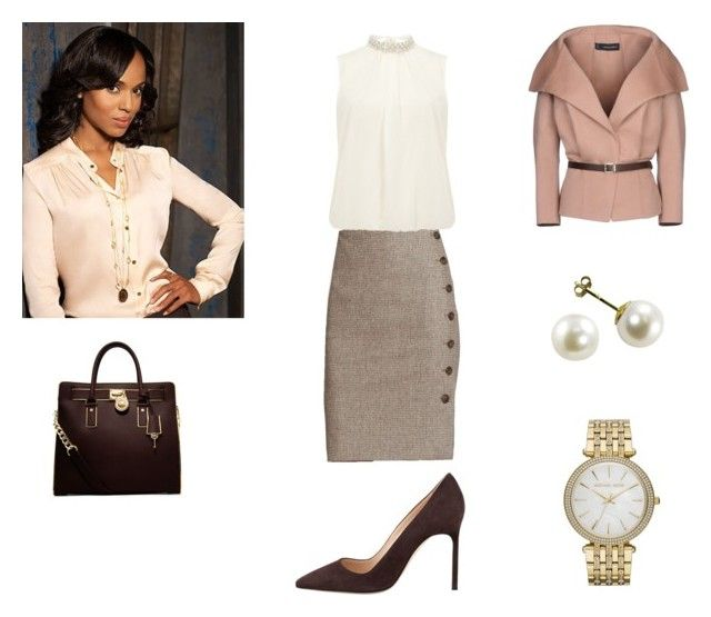 """Olivia Pope 2"" by cherryfalls ❤ liked on Polyvore featuring Dsquared2, Akris, Dorothy Perkins, MICHAEL Michael Kors and Manolo Blahnik"