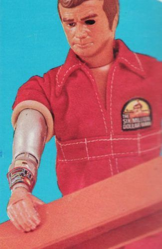 The Six Million Dollar Man Action Figure.  You could stare at a hole from the back of his head for his telescopic (bionic eye).  His right hand had rubber skin that you could roll back to see the robotic components underneath.