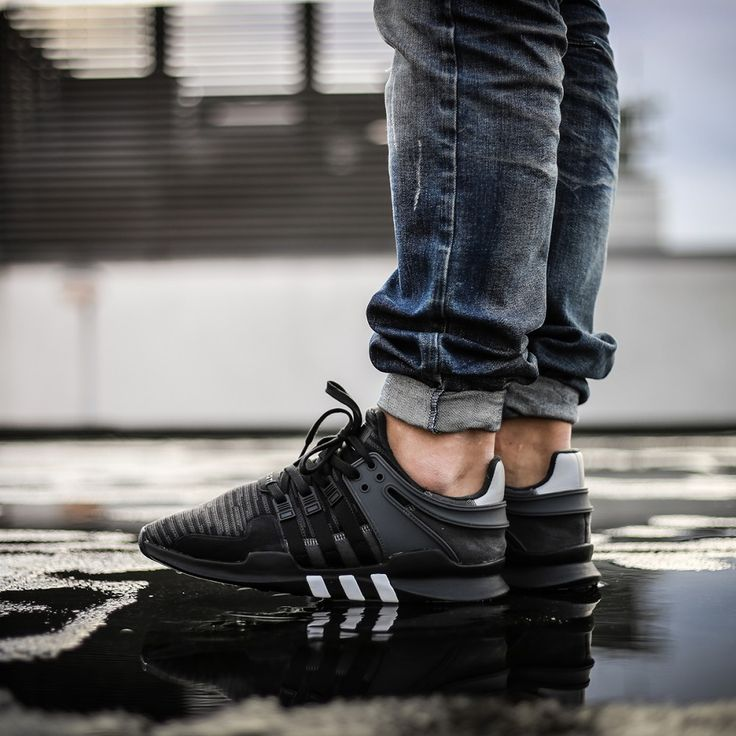 adidas eqt support adv black & grey shoes