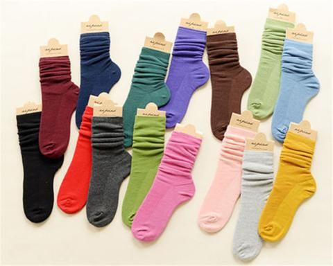 3 Pairs 12 Colors Women's Fashion Cotton Blend Socks Everyday Casual Loose Socks