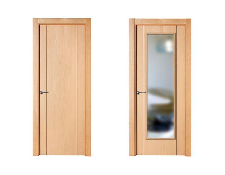 puerta de interior clara modelo berln de la serie lisa de puertas castalla puerta