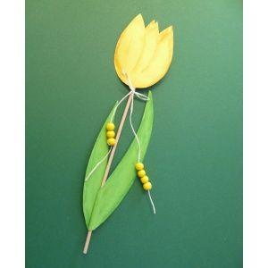 Blumenstecker basteln   Bastelanleitung für eine Tulpe