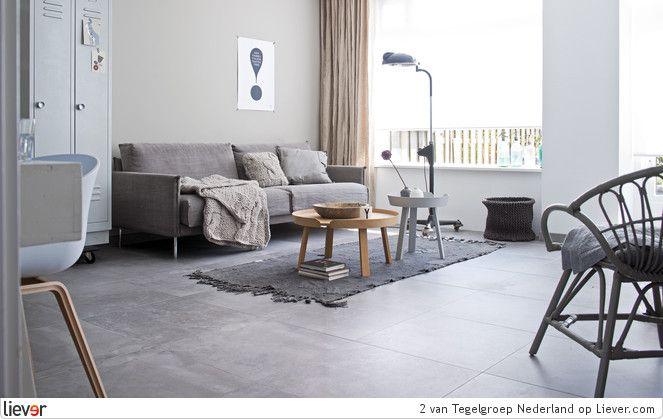 groot grijs -  vtwonen by Douglas  Jones Loft – Loft Grey - vtwonen by Douglas  Jones tegelvloeren - foto's  verkoopadressen op Liever interieur