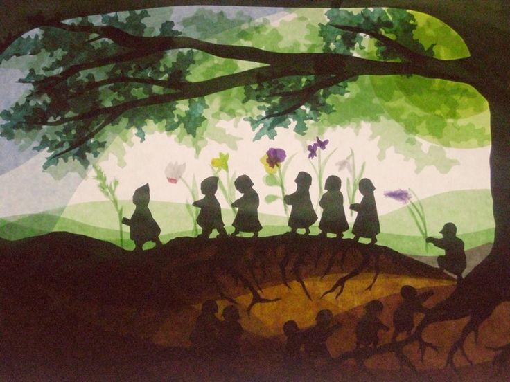 Die besten 17 ideen zu seidenmalerei auf pinterest - Schattenbilder kinder ...