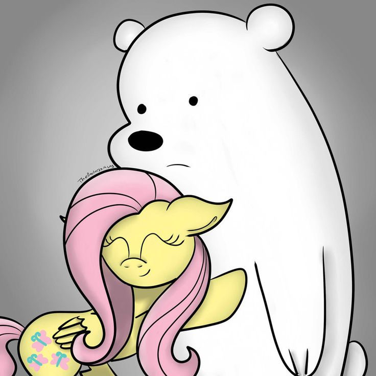 We Bare Bears My Little Pony Ice Bear And Fluttershy