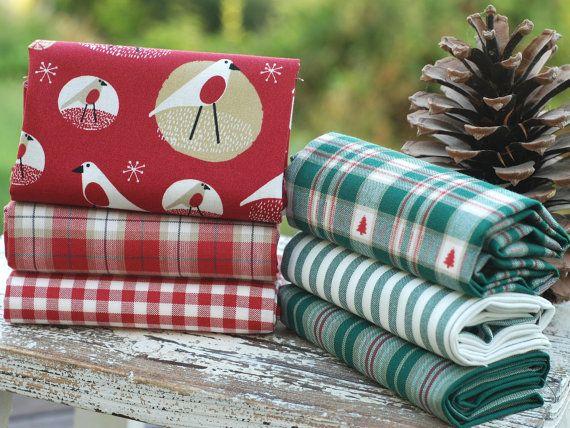 Festive fat quarter fabric bundle  100 % by fabricsandfrills