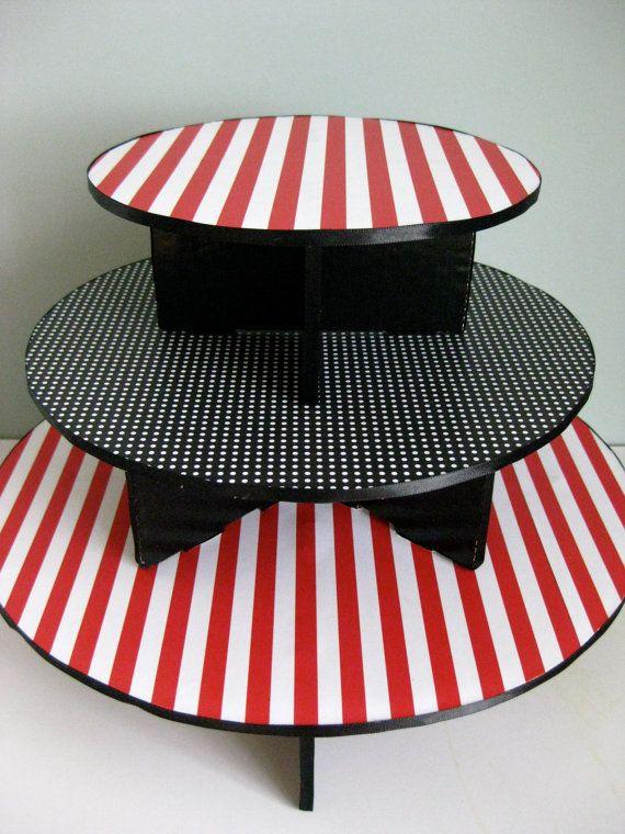 Cake o cupcake stand para Fiesta de Piratas