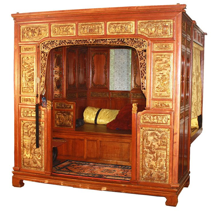 Chinese Lo-han Chamber Bed  From a unique collection of antique and ...
