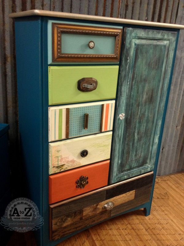 Funky UpCycled Wardrobe by A to Z Custom Creations