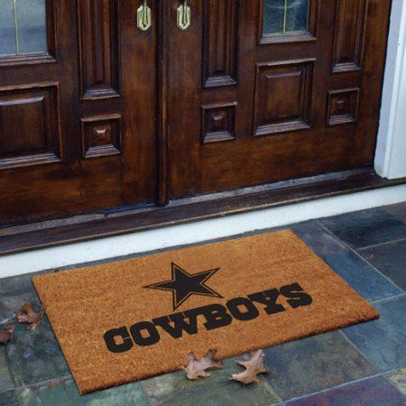 NFL - Dallas Cowboys Flocked Door Mat, Beige
