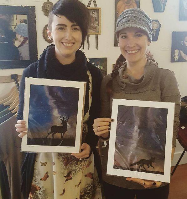 Jennelle & Donna Hanlon Design with her new art prints!