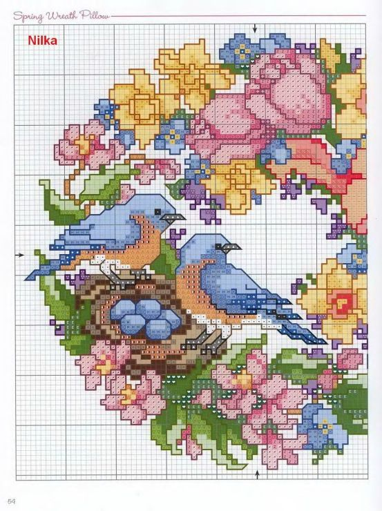 Cross Stitch free Pattern... Gallery.ru / Фото #3 - венки от D.K. - frango: