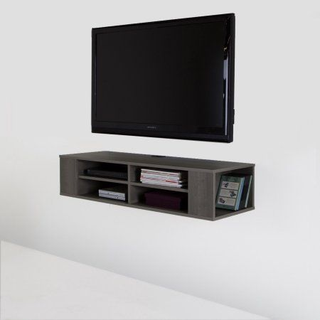 south shore city life 48 inch wall mounted tv stand multiple colors gray