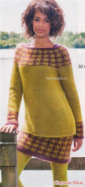 Пуловер и юбка с жаккардовым узором - Жаккард - Страна Мам