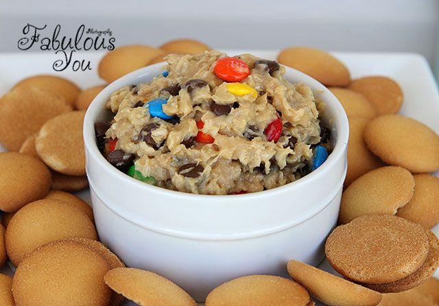 Monster Cookie Dough Dip - great with graham crackers or even as frosting on cupcakes!