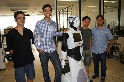 Guillem and Napoleon visiting Pal Robotics in Barcelona