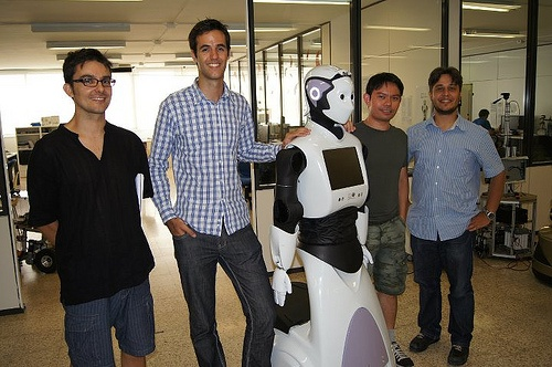 Guillem and Napoleon visiting Pal Robotics in Barcelona