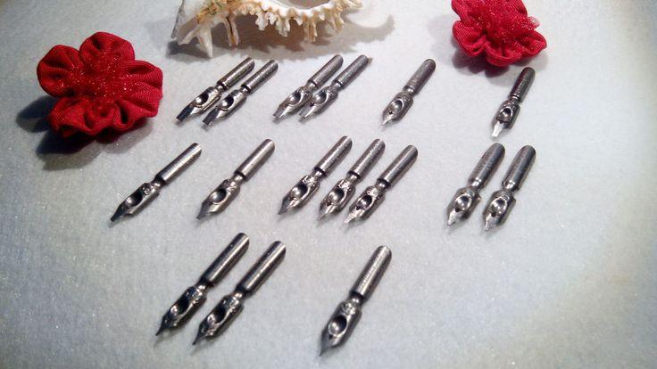 Dip pen nibs, lot of 16 nibs, vintage 50 s 60 s